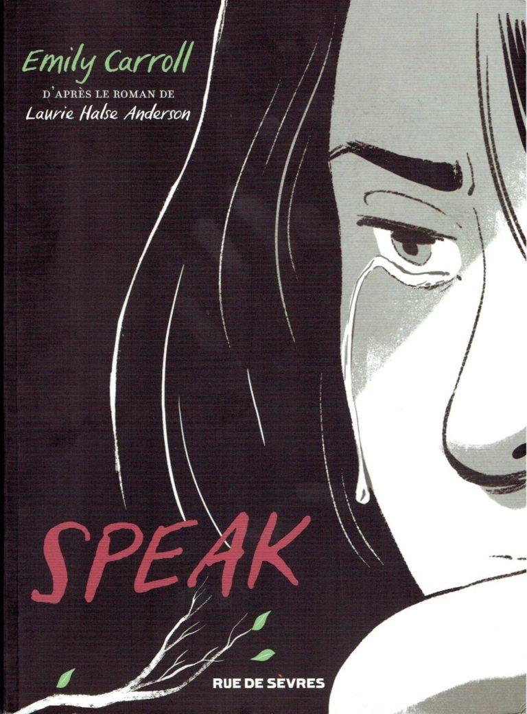 couverture BD SPEAK traitant des violences sexuelles